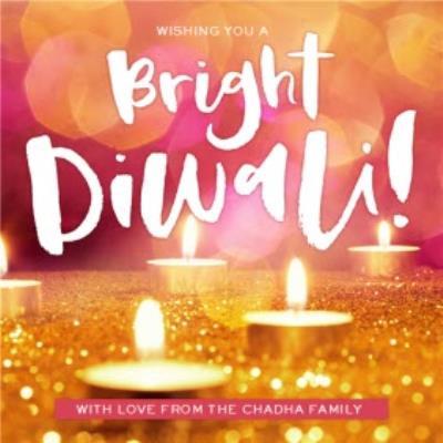 Wishing You A Bright Diwali Personalised Card