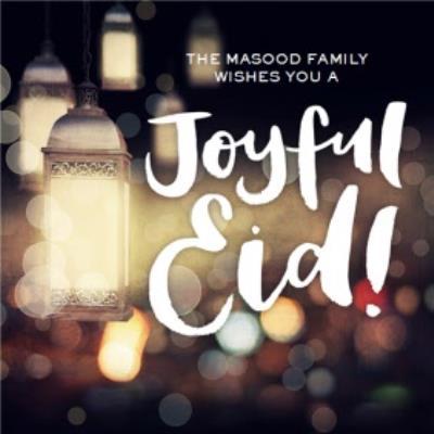 Personalised Wish You A Joyful Eid Card