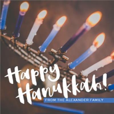 Personalised Happy Hanukkah Card