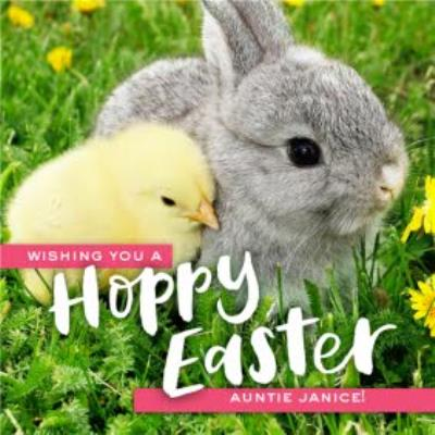 Wishing You A Hoppy Easter Personalised Card