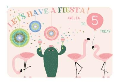 Let's Have A Fiesta! 5th Birthday Card