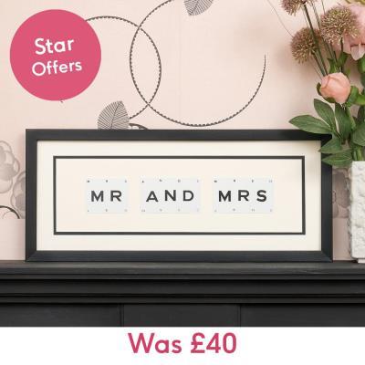 Vintage Playing Cards Mr & Mrs Frame