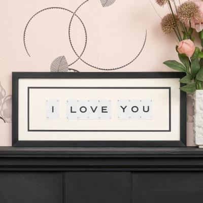 Vintage Playing Cards I Love You Frame