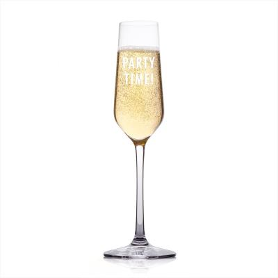 Party Time Engraved Champagne Flute
