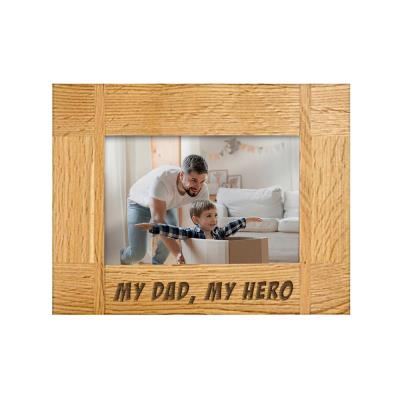 My Dad My Hero Engraved Photo Frame