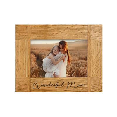Wonderful Mum Engraved Photo Frame