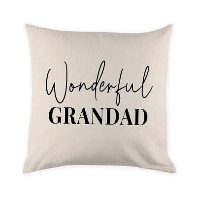 Wonderful Grandad Canvas Cushion Cover