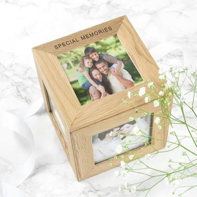 Special Memories Engraved Oak Photo Keepsake Box