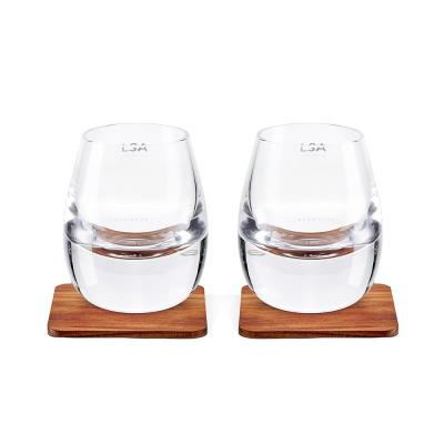 LSA Whisky Tumbler & Walnut Coaster Set