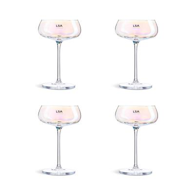 LSA Four Piece Pearl Champagne Saucer Set