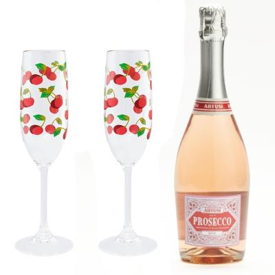 Cath Kidston Flutes and Rosé Prosecco Gift Set 75cl