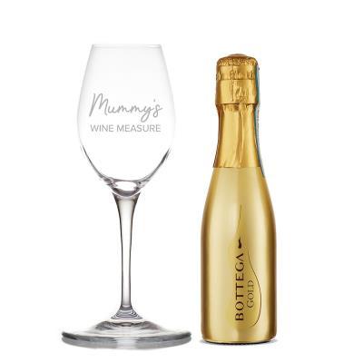 Mummy's Measure Wine Glass & Bottega Gold Gift Set