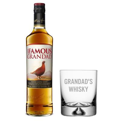 Grandad's Whisky Glass & Famous Grouse 70cl Gift Set