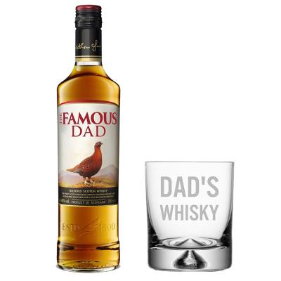 Dad's Whisky Glass & Famous Grouse Gift Set