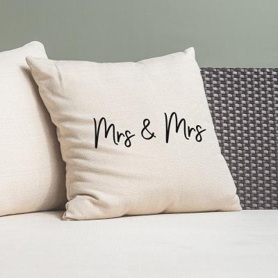 Mrs & Mrs Canvas Cushion Cover