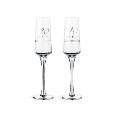 40th Anniversary Champagne Flute Gift Set