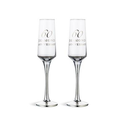 60th Anniversary Champagne Flute Gift Set