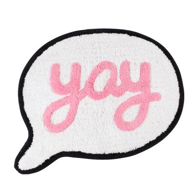 Say Yay Speech Bubble Rug