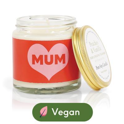 Aery Peaches & Vanilla Soy Wax 'Mum' Candle