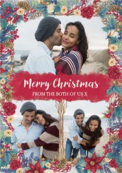 Hope Blossoms Photo Upload Christmas Card Merry Christmas From Both Of Us