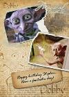 Harry Potter Dobby Personalised Happy Birthday Card