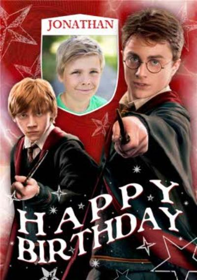 Harry Potter Personalised Name And Photo Upload Card