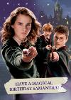 Harry Potter Have A Magical Birthday Personalised Greetings Card