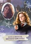 Harry Potter Hermione With Wand Personalised Photo Upload Birthday Card
