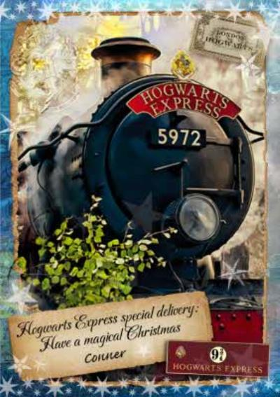 Harry Potter Hogwarts Express Special Delivery Christmas Card
