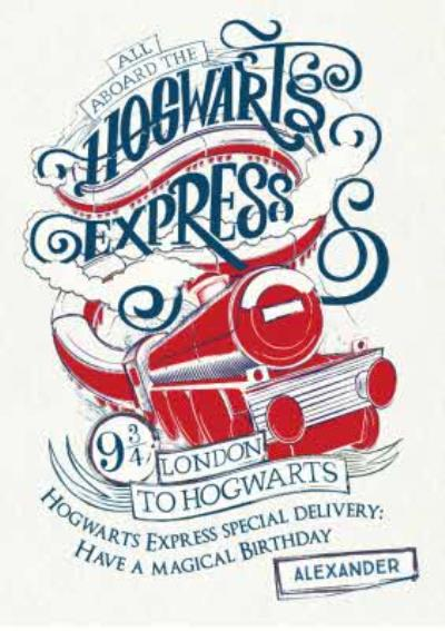 Harry Potter Birthday card - Hogwarts Express