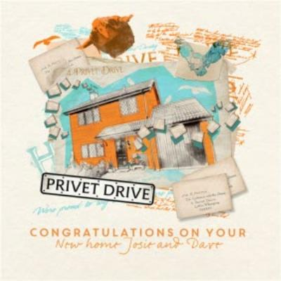 Harry Potter new home card - Privet Drive