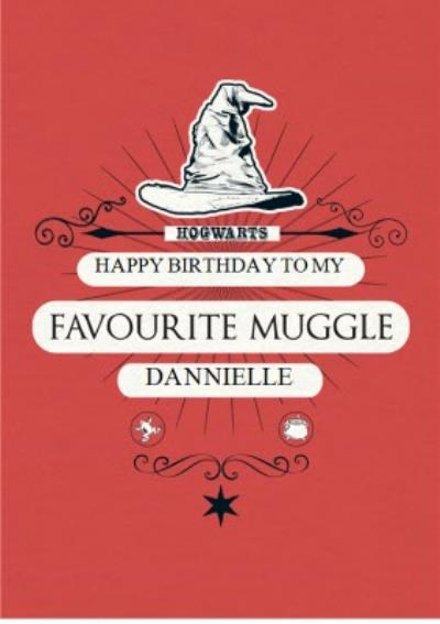 Harry Potter birthday card - favourite muggle