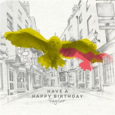 Harry Potter birthday card - Hedwig