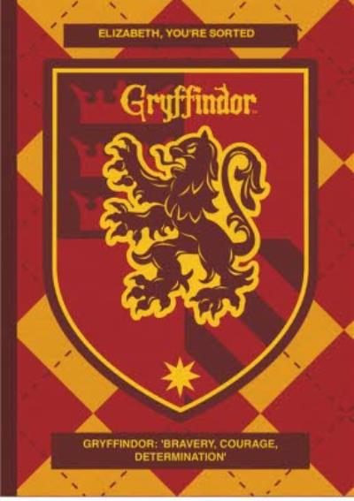 Harry Potter sorting hat card - Gryffindor