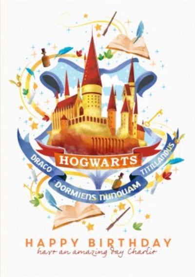 Harry Potter Hogwarts birthday Card