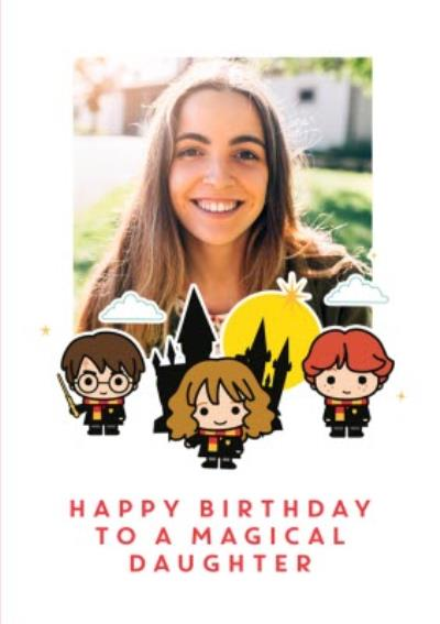 Harry Potter photo upload birthday Card for Daughter