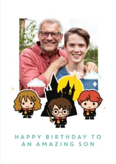 Harry Potter cartoon card - Happy birthday Son photo upload card
