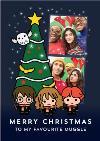 Harry Potter Cartoon Merry Christmas To My Favourite Muggle Photo Upload Card