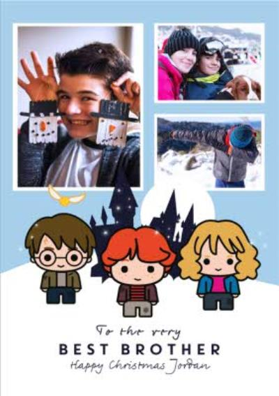 Harry Potter Cartoon To The Very Best Brother Photo Upload Christmas Card