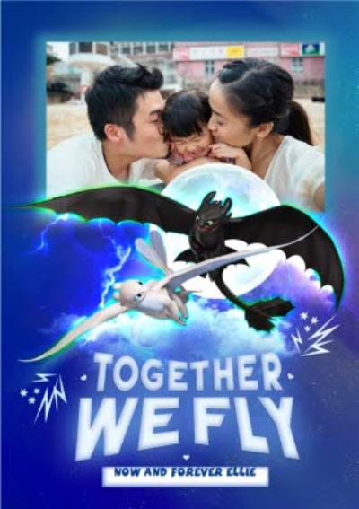How To Train Your Dragon Together We Fly Family Valentines Photo Card