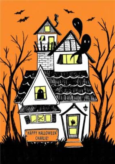 Haunted House Personalised Halloween Card
