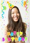 Photo Birthday Card - Happy Birthday Party