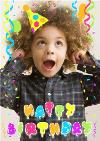 Colourful Balloons Photo Upload Happy Birthday Card