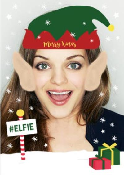 #Elfie Merry Christmas Face Upload Card