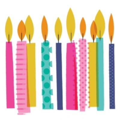 Colourful Candles Birthday Card