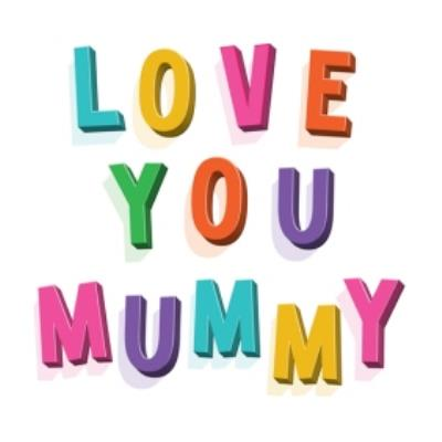 Typographic Lettering Love You Mummy Card