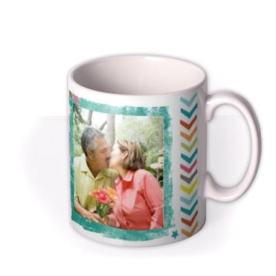 Happy Birthday 50th Multicoloured Photo Upload Mug