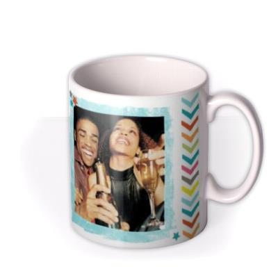 Thank You Multicoloured Photo Upload Mug
