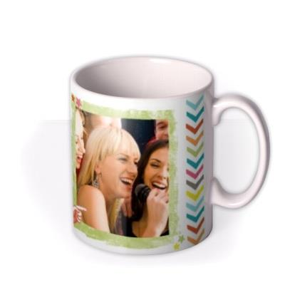 Happy Birthday To You Multicoloured Photo Upload Mug