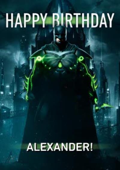 Happy Birthday Batman Card